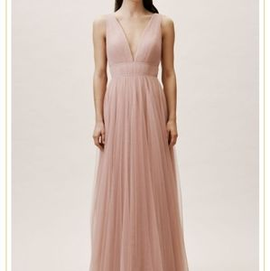 BHLDN Sarita Dress in Whipped Apricot